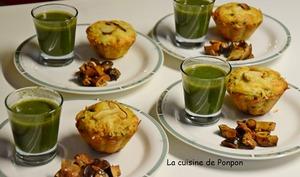 Muffin aux champignons des bois