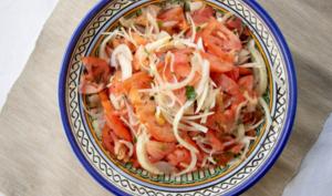 La salade du kebab, tomates oignons