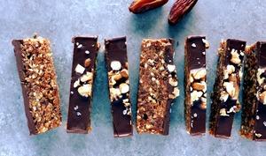 Barres chocolatées dattes et noix