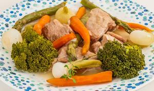 Blanquette de veau aux légumes printaniers