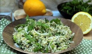 Boulghour aux graines de chia et herbes fraîches