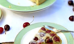 Tarte muffin à la cerise et à la pistache