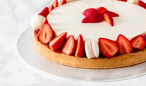 Tarte cheesecake aux fraises