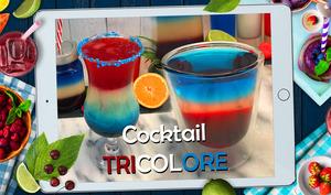 Comment faire des cocktails bleu blanc rouge ?