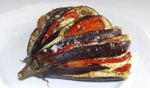 Aubergine en éventail au Parmigiano Reggiano