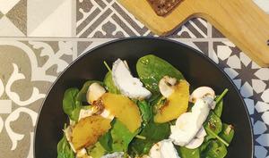 Salade épinards,champignons, orange