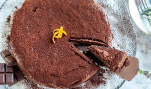 Gâteau caprese au chocolat sans gluten