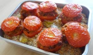 Tomates farcies aux tendrons de veau