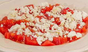 Salade de tomates façon šopska