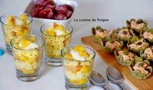 Cups aux fruits de mer et verrines variées