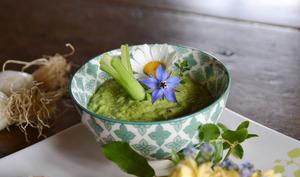 Pesto de tiges d'oignons nouveaux