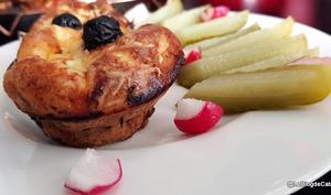 Mini quiches sans pâte aux champignons, poireau, lardons