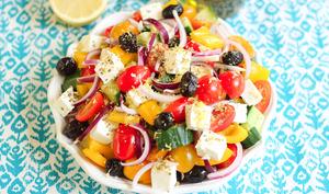Salade grecque origan et zeste de citron