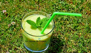 Gaspacho au melon vert, vegan