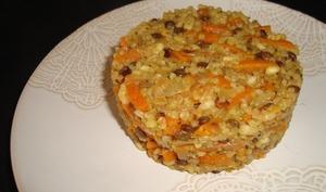 Dahl de céréales et lentilles aux carottes