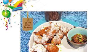 Acras du Mardi Gras rhum arrangé aux nèfles