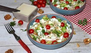 Salade folle de torsettes et courgettes au gorgonzola