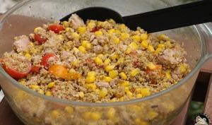 Salade aux céréales méditerranéennes