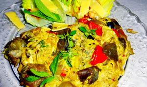 Omelette à la ratatouille gouda menthe