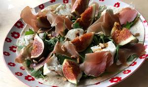 Salade figues et jambon cru