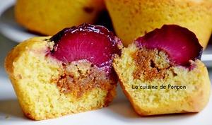 Muffin à la prune et caramel au beurre salé Raffolé