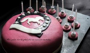 Gâteau d'anniversaire pour fan de cheval