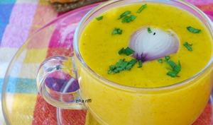 Soupe à l'oignon grillé et potiron