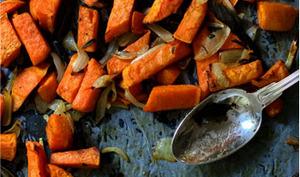 Lentilles du Puy et patate douce rôtie