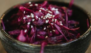 Salade de choux rouge, Vinaigrette à l'abricot