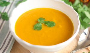 Soupe de carottes à la coriandre