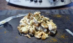 Dinde à la crème et au curry Weight Watchers au thermomix, préparée en 5 minutes.