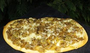 Pizza à l'oignon et à la mozzarella façon argentine