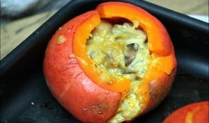 Potimarrons farcis aux champignons et au cantal