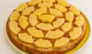 Tarte au lait et ananas