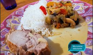 Rôti de porc échine et ses légumes au cookeo