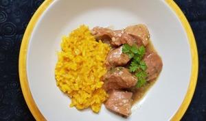 Mijoté de veau gremolata et son risotto au safran