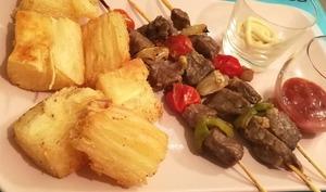 Manioc frit, moelleux et croustillant