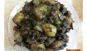 Poêlée de pommes de terre et champignons