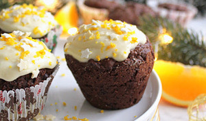 Cupcakes vegan pain d'épices chocolat orange