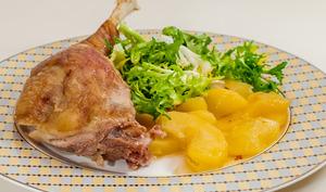 Oie aux pommes