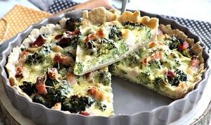 Quiche aux brocolis et lardons