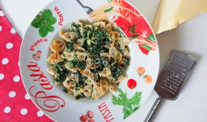 Pâtes aux épinards et gorgonzola