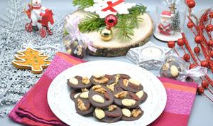 Mendiants chocolat noir et fruits secs