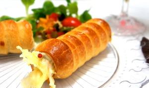 Rouleau feuilleté aux poivrons et fromage raclette
