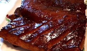 Poitrine de porc laquée