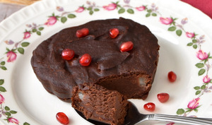 Moelleux chocolat, crème de marron et poire