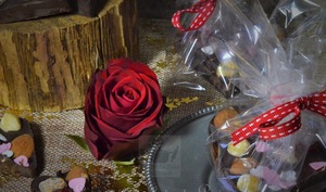 Coeur mendiant chocolat