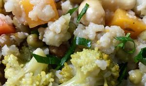 Haricots mungo, riz et légumes épicés, ambiance kitchari  – simone en Vrac, en mode Végétal