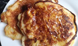 Pancake au bacon et mozzarella