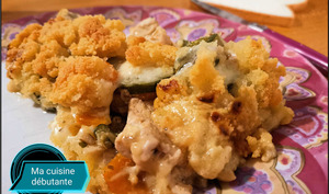 Crumble au poulet courgette parmesan avec Cookeasy